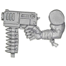 Warhammer 40k Bitz: Orks - Ork Stormboyz - Arm A - Slugga, Right