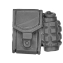 Warhammer 40k Bitz: Astra Militarum - Bullgryns, Ogryns, Nork Deddog - Accessory C - Pouch+Grenade