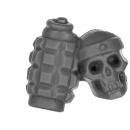 Warhammer 40k Bitz: Astra Militarum - Bullgryns, Ogryns, Nork Deddog - Accessory G - Grenade+Skull