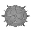 Warhammer AoS Bitz: CHAOS - Putrid Blightkings - Schild D - (King D)