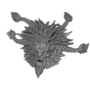 Warhammer 40k Bitz: Space Wolves - Wulfen - Head K - Pack...